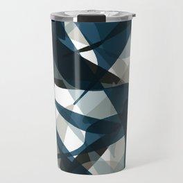 Abstract Whale Monotone Travel Mug