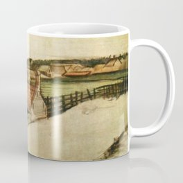 View of Scheveningen, spire in background Coffee Mug