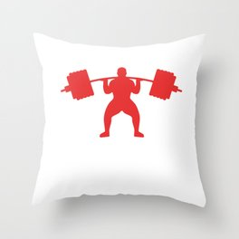 Heavy Powerlifting design For Body Builders  graphic Throw Pillow