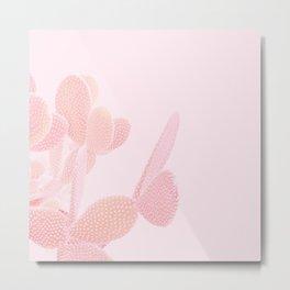 Opuntia Blush Metal Print