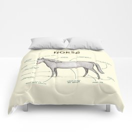 Anatomy of a Horse Comforters
