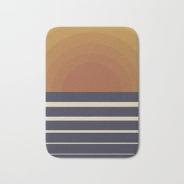 Retro Sunset Bath Mat