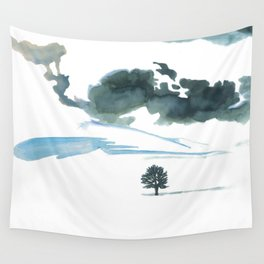 snowy winter Wall Tapestry
