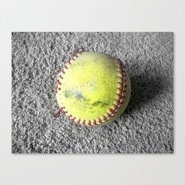The Softball Canvas Print