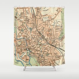 Vintage Map of Hanover Germany (1895) Shower Curtain