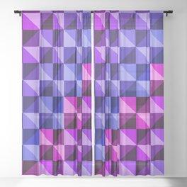 Geometry:Blue-Purple-Pink Sheer Curtain