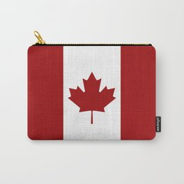 Canada: Canadian Flag (Red & White) Carry-All Pouch