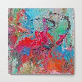 Heaven Rejoices Multi Colored Abstract Luke 15:7 Metal Print