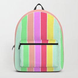 Pastel Rainbow Sorbet Deck Chair Stripes Backpack