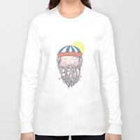 beard Long Sleeve T-shirts featuring BEARD by Nazario Graziano