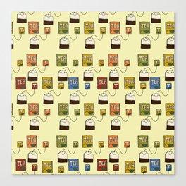 Tea bags Canvas Print