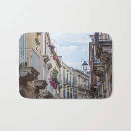 Street in Syracuse, Sicily Bath Mat