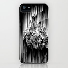Haunted Static - Glitchy Abstract Pixel Art iPhone Case