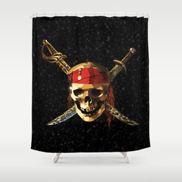 The Skull Smile Pirates Shower Curtain
