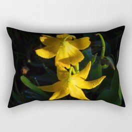 Glacier National Park, Glacier Lilies, Botanical Photography, Floral Print, Yellow Flowers Rectangular Pillow