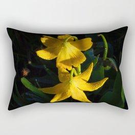 Glacier National Park, Glacier Lilies, Botanical Photography, Floral Print, Yellow Flowers Rectangular Pillow
