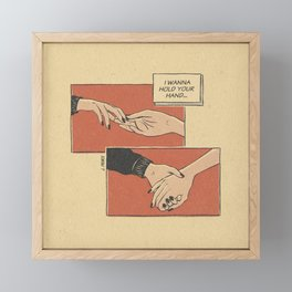 I wanna hold your hand Framed Mini Art Print