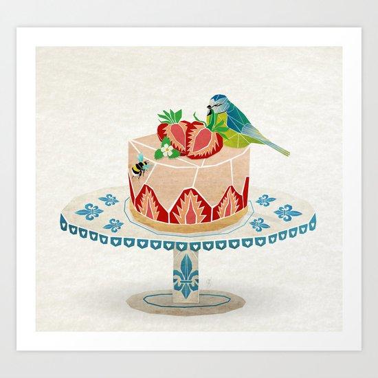 life is short, take a dessert  Art Print