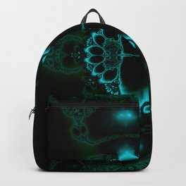 Dark Forest Lotus Fractal Art Print Backpack