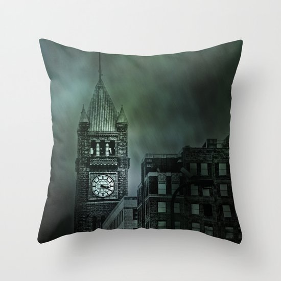 Spotlight On Time Throw Pillow