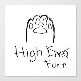 High Furr Canvas Print