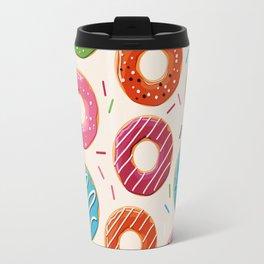 Colorful Donut Design Travel Mug
