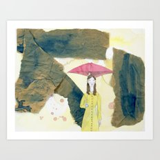 Floating: Rain Art Print