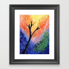 Be the Colorful Tree Framed Art Print
