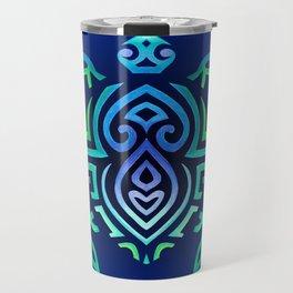 Tribal Turtle Ombre Background Travel Mug