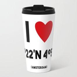 I lOVE AMSTERDAM Travel Mug