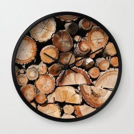 Logs stock Wall Clock