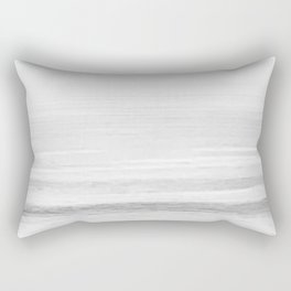 Washed Out Ocean Waves B&W // California Beach Surf Horizon Summer Sunrise Abstract Photograph Vibes Rectangular Pillow