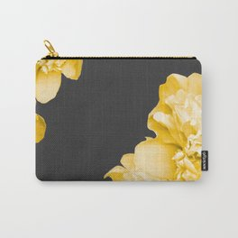 Yellow Flowers On A Dark Background #decor #society #homedecor Carry-All Pouch