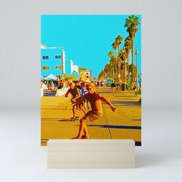 Skateboarder on the move Mini Art Print