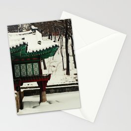 Winter Changdeokgung palace, Seoul, Korea Stationery Cards