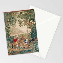 Verdure 18th Century French Tapestry Print Stationery Cards