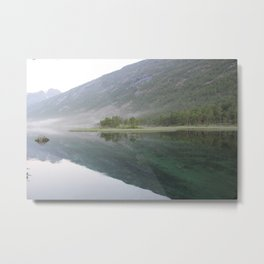 A Fjord's Reflection Norway Metal Print