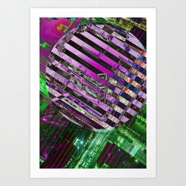 City Stripe Art Print