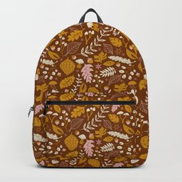 Fall Foliage in Gold + Brown Backpack