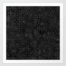 Black and White Overlap 1 Art Print