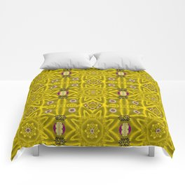 stars and flowers in the forest of paradise love popart Comforters