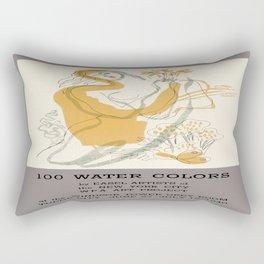 Vintage poster - WPA Art Project Rectangular Pillow
