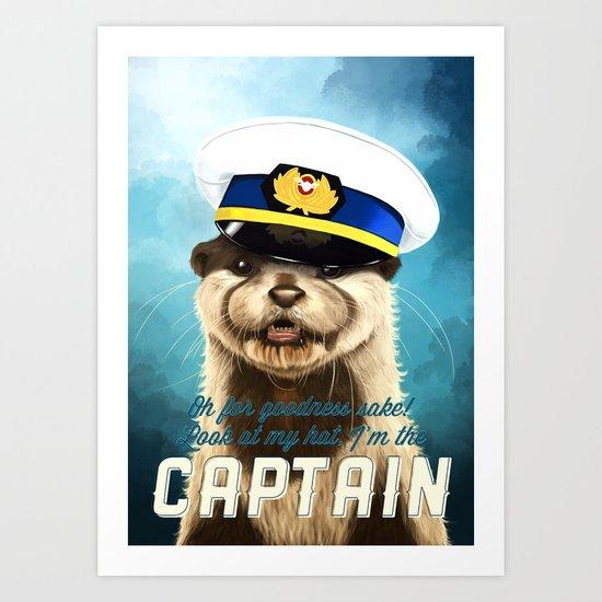 Captain Otter Art Print