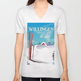 Willingen,Germany ski poster Unisex V-Neck