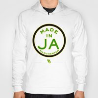 jamaica Hoodies featuring Made in Manchester-Jamaica by DCMBR - December Creative Group