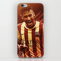 neymar iPhone & iPod Skins featuring Neymar Jr  by Max Hopmans / FootWalls