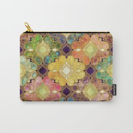Marrakesh Flowers violet Carry-All Pouch