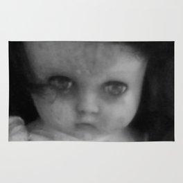 Creepy doll face Rug