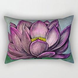 Lotus Flower Rectangular Pillow