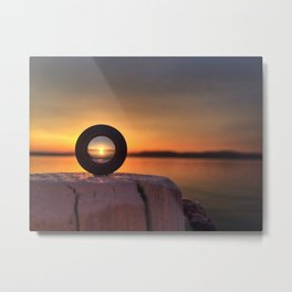 Sunset in a lens Metal Print
